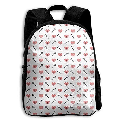Valentines Love Lock And Key-01 Kid Boys Girls Toddler Pre School Backpack Bags Lightweight