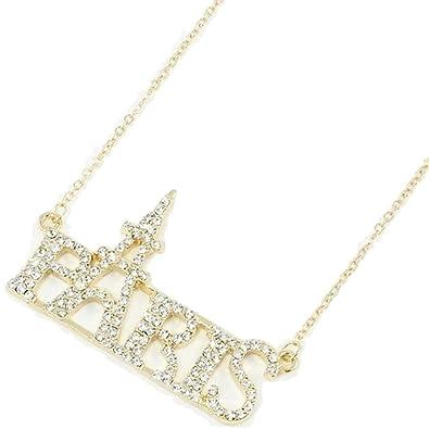 Amazon crystal paris eiffel tower necklace c41 gold tone crystal paris eiffel tower necklace c41 gold tone sparkles mozeypictures Image collections