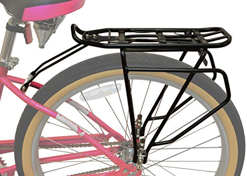 Lumintrail Bicycle Rear Frame Mounted Cargo Rack for Non-Disc Bikes Height Adjustable Commuter (Bike Rack Spring)