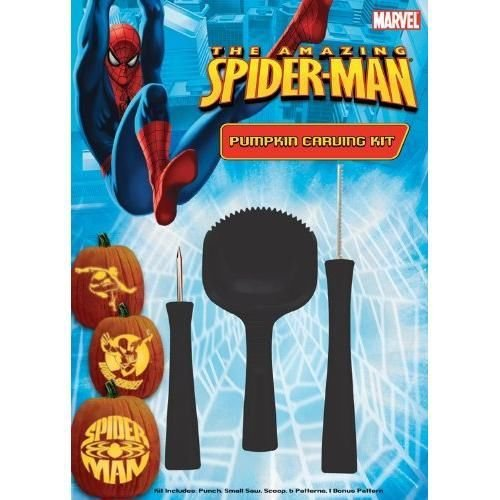 Paper Magic Group Pumpkin Carving Kit, Spiderman
