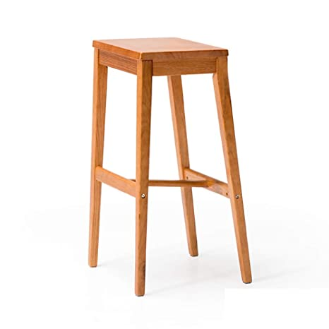 Tremendous Amazon Com Qqxx Wooden Bar Stools Kitchen Stools Breakfast Caraccident5 Cool Chair Designs And Ideas Caraccident5Info