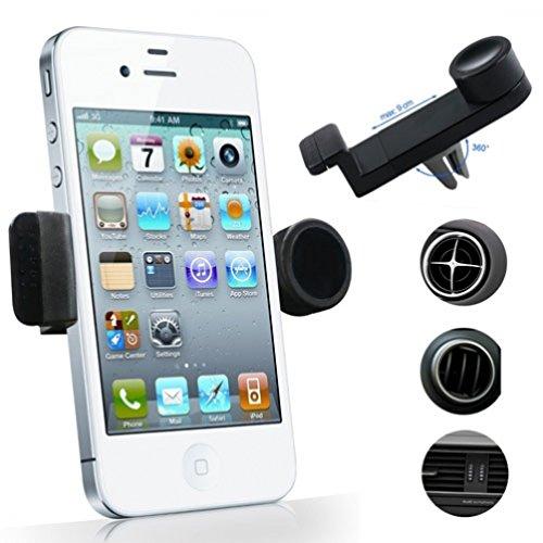 Car Air Vent Mount Rotating Phone Holder for Net10, Straight Talk, Tracfone ZTE Majesty - ZTE Solar, Nubia Mini, Avail 2 - LG 511C - LG Optimus Fuel - LG Optimus Quest, Optimus Zip