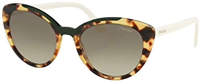 Prada 0PR 02VS Gafas de sol, Medium Havana/Green, 54 para ...