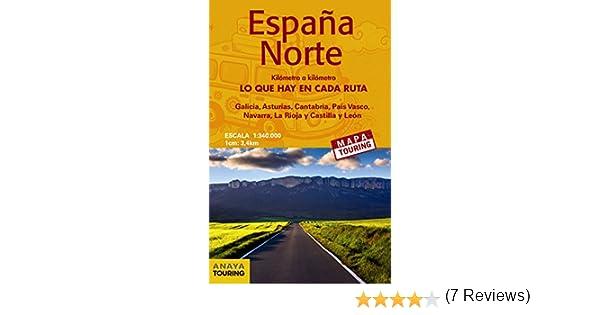 Mapa de carreteras 1:340.000 - España Norte desplegable Mapa ...