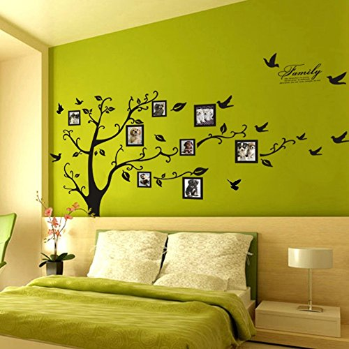 Huge Family Tree Photo Frame Wall Decals Removable Wall Decor ...