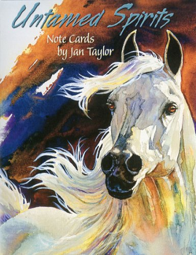 Untamed Spirits by Jan Taylor [ASN34603] Blank Horse Note Card Assortment - 12 Cards Featuring a Full-Color Interior and Colorful Envelope