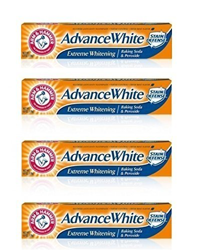 - Arm and Hammer Advance Whitening Toothpaste .9 Oz Travel Size 4 Pk.