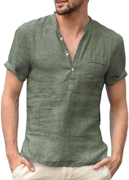 Sxgyubt - Camiseta de manga corta para hombre, transpirable, cuello en V, para ocio transparente verde extra-Large: Amazon.es: Instrumentos musicales