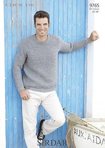 342518e0b Sirdar Mens Click DK Sweater Knitting Pattern 9765  Amazon.co.uk  Kitchen    Home