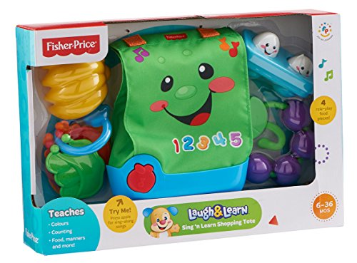 Fisher-Price - Sing n' Learn Shopping Tote - Mattel - YouTube
