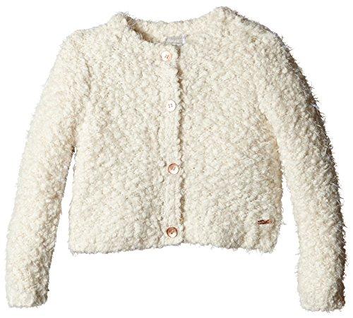 NAME IT Mädchen Strickjacke Nitnatalie M Ls Short Knit Card 515 Ger, Gr. 104, Elfenbein (Vanilla Ice)