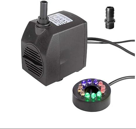 Bomba sumergible para fuente de agua de 15W Bombas sumergibles para jardín Bomba de fuente para estanque de jardín Bomba de fuente Iluminación LED: Amazon.es: Instrumentos musicales
