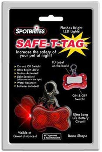 Safe-T-Tag Bone-Shape Led Id Tag Bone Shape Led