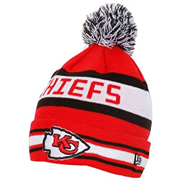 new concept 66dca 068f7 Image Unavailable. Image not available for. Color  Men s New Era Kansas  City Chiefs The Jake Knit Hat ...