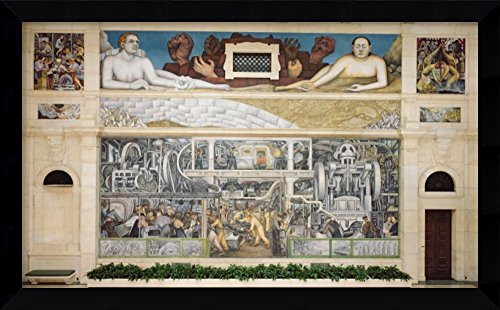 outh Wall of a Mural depicting Detroit Industry, 1932-33 (fresco)' by Diego Rivera (Diego Rivera Mural)