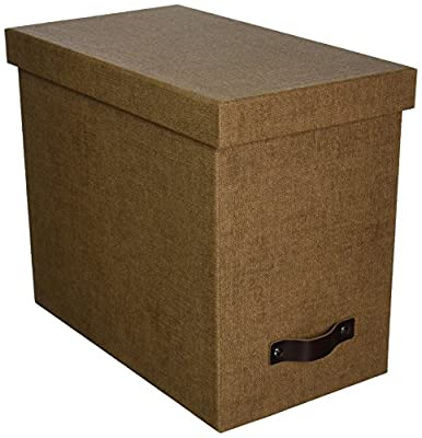 Bigso John Canvas Paper Laminate Desktop File Box