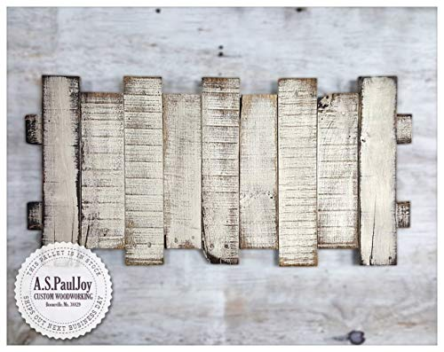 Pallet ArtRustic Pallet Home Decor Wall Art Pallet Furniture Pallet Sign Distressed White Painted Rustic Home Decor Reclaimed Wood Sign Farmhouse Decor Shabby Chic Barnwood Wall Hanging