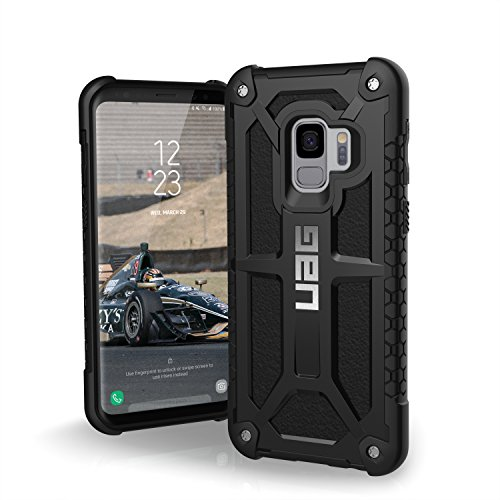 URBAN ARMOR GEAR UAG Designed for Samsung Galaxy S9 [5.8-inch Screen] Monarch Feather-Light Rugged [Black] Military Drop Tested Phone Case