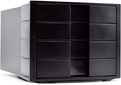 HAN 1010-X Impulse Drawer DIN A4//C4 4 closed drawers black