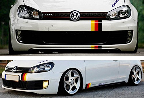 ijdmtoy 1 10 germany flag color stripe decal sticker for euro car audi bmw mini mercedes. Black Bedroom Furniture Sets. Home Design Ideas