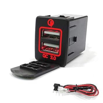 Yuly Quick Charge 3.0 Cargador de Coche USB Dual Adaptador ...