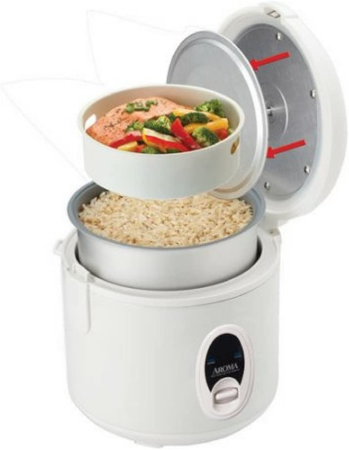 Aroma 8-Cup Digital Rice Cooker Food Steamer Stainless Steel New Free Shipping