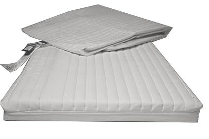 NightyNite cuna colchón con cubierta de microfibra acolchado (76 x 40 x 3,5