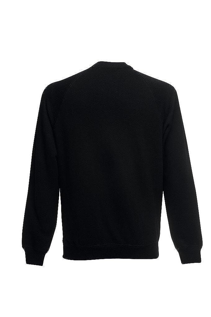 Fruit of The Loom Herren Sweatshirt Classic Raglan Sweat Blau Deep Navy XXL