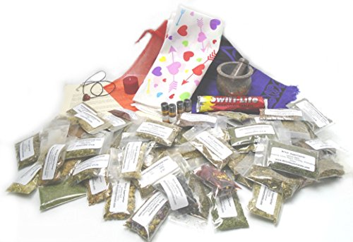 Deluxe Wicca Starter Kit with Love Spell Witchcraft Hoodoo Herbs & Supplies by Witch SuperCenter
