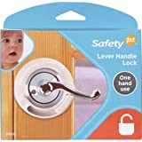 door lock for baby - Safety 1st French Door Lever Handle Baby Proof Child Lock - One Hand Use - 72304
