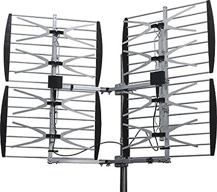 8 BAY MULTI-DIRECTIONAL VHF UHF OUTDOOR HD TV ANTENNA OVER THE AIR OTA 8BAY OTA