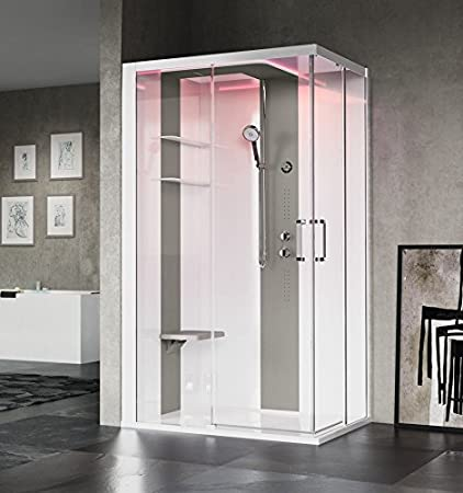 Cabina de ducha Skill 120 x 90 cm Novellini en version Essentiel o Hammam acceso de ángulo con 2 paneles fija y de puertas coulissants: Amazon.es: Bricolaje y herramientas