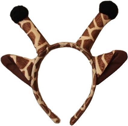Diadema con orejas y cuernos de jirafa: Amazon.es: Belleza