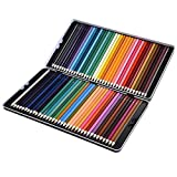 72 Colored Pencils Set, Atmoko Watercolor Art Coloring Pencils Bulk with Pencil Case for Coloring Books, Pre-sharpened for Children and Adults, Assorted Colors