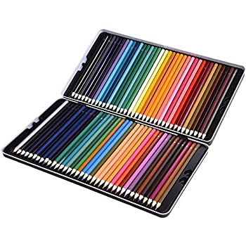 Amazon.com : 72 Colored Pencils Set, Atmoko Watercolor Art Coloring ...