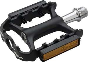 Wellgo M111 CR-MO Spindle Sealed Platform Pedal, 99 x 61 x 18mm, Black