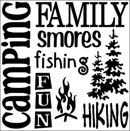 Amazon.com: JS Artworks Camping Family Smores Vinyl Wall Art Decal Sticker:  Home U0026 Kitchen