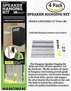 882d9f808 Amazon.com: 4 Pack Kit   Hangman 6in. Bar Speaker Hanging Kit, 2 ...