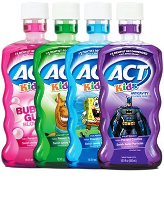 Chattem ACT Kids Mouthwash Variety Pack