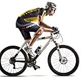 LYCAON Bike Bicycle Cycling Shorts (3D Antibacterial Gel-Pad, 7 Sizes), MTB BMX Shorts for Road Mountain Bikes Bicycle Ridding Men Women Kids Teens (Medium, Black-Performance)