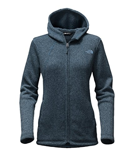The North Face Women's Crescent Full Zip Hoodie - Ink Blue Heather - L (Past Season) by The North Face