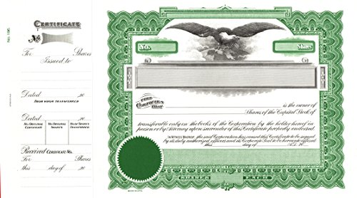 Goes 196 Capital Stock Certificates