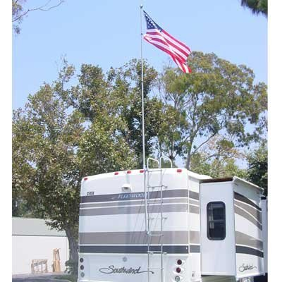 RV Flag Pole Kit Motorhome Flag Kit by FlagPole Buddy 22 Feet