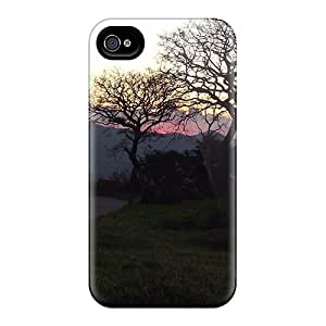 Iphone 6 Cases Slim [ultra Fit] Purple Sky Behind The Trees Protective Cases Covers
