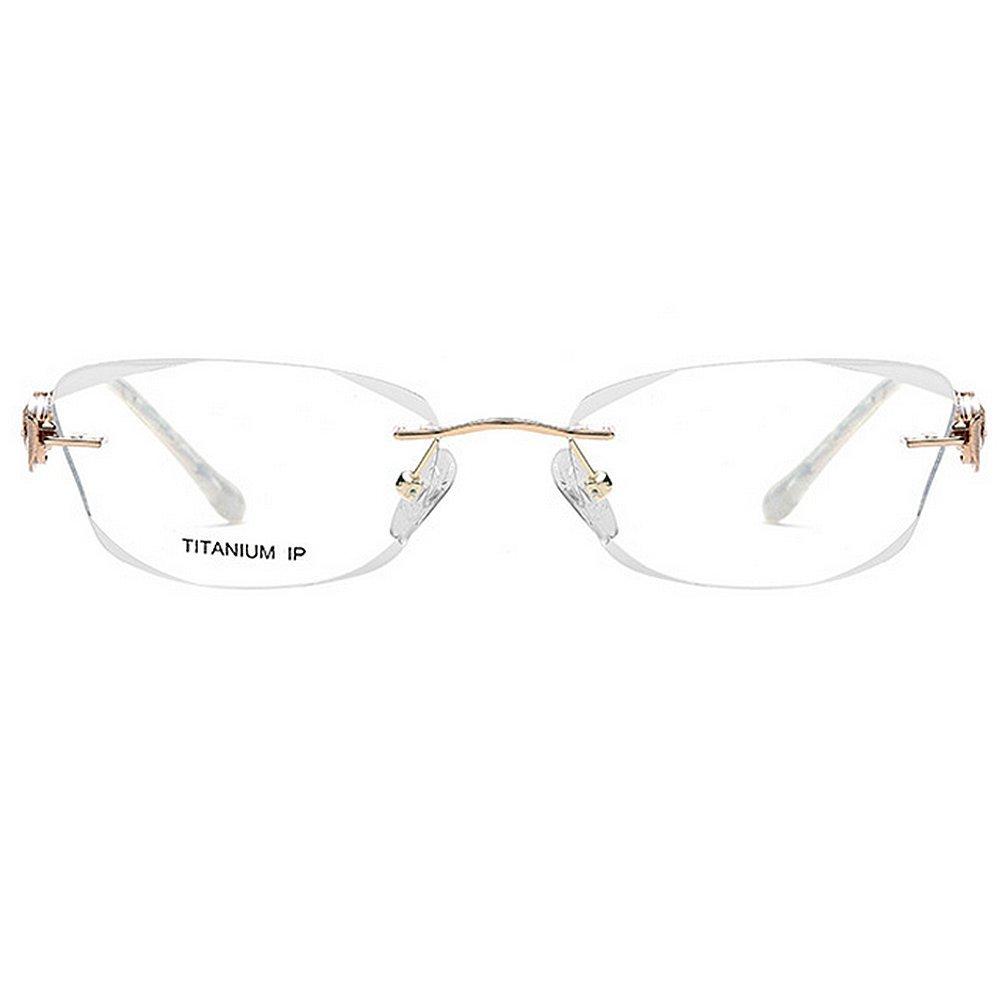 bb951e5712 Gafas de Negocios sin Marco de Titanio Puro cristalino Claro Lente Lentes  de Ocio Gafas de Sol clásicas: Amazon.es: Hogar