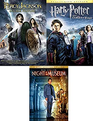Greek Wizards & A Night at the Museum + Witchcraft and Wizardry Harry Potter Goblet of Fire & Percy Jackson Olympians: Lightning Thief & Sea of Monsters3 Movie Family Fantasy Pack: Amazon.es: