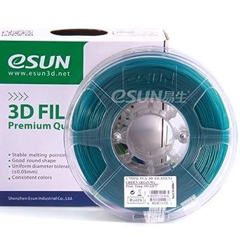 Esun Pla verde 3 mm Filamento 1 KG/2.2lb Bobina para impresora 3d ...