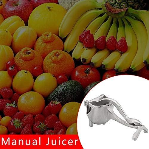 DENGC Exprimidor de Jugo de limón y Lima portátil multifunción Manual exprimidor exprimidor exprimidor Creativo——Plata