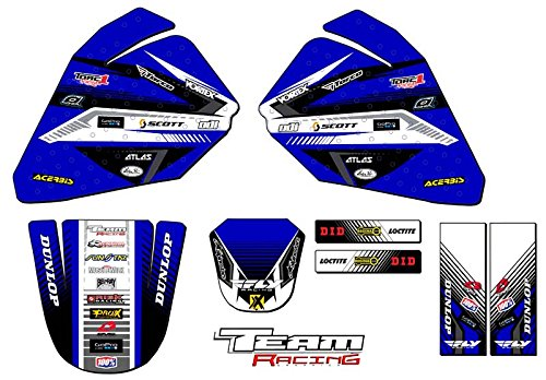 Team Racing Graphics kit for All Years Yamaha PW 80, ANALOG Base kit