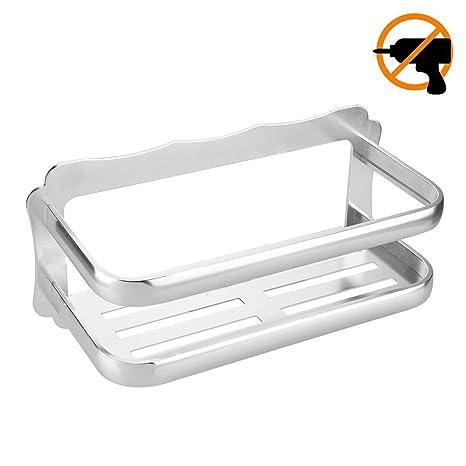 Lolypot Duschablage Dusche Rack Korb ohne Bohrer, Badezimmerablage 3M  Kleber Aluminium Shampoo Halter für Badezimmer